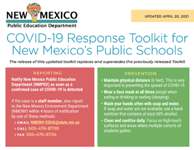 Updated COVID-19 Toolkit for NM Schools