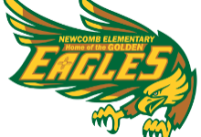 Newcomb Elementary Home of the Golden Eagles logo