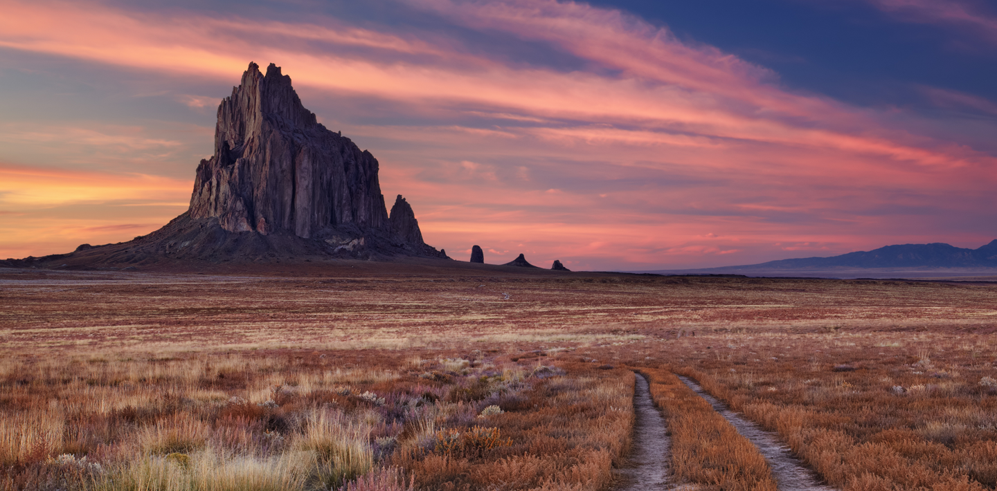 The Shiprock pinnacle in Shiprock, New Mexico