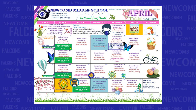 Newcomb Middle School - April School Calendar
